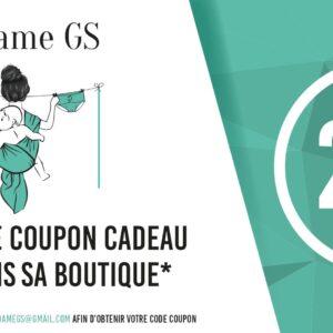 bon d'achat pour le site Madame GS