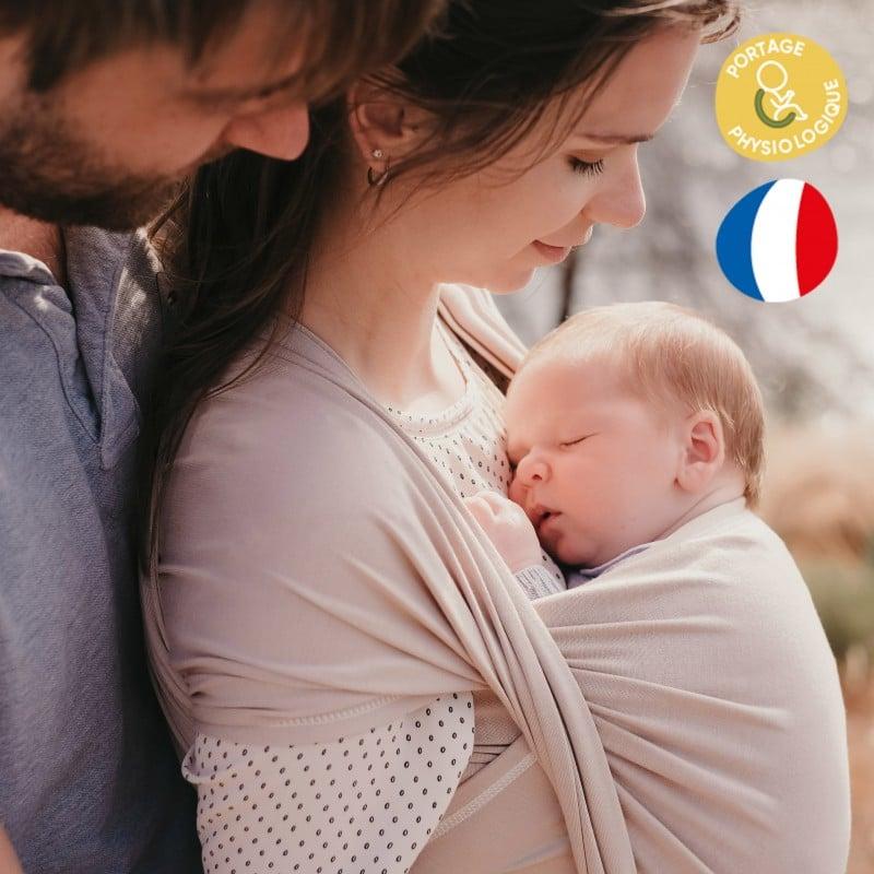 écharpe de portage physiologique sling porte-bébé