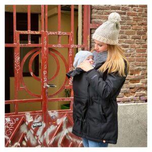 manteau de portage physiologique écharpe sling porte-bébé