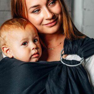 sling écharpe de portage physiologique sans noeud porte-bébé écharpe de portage